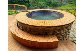 Купель (чан) на дровах